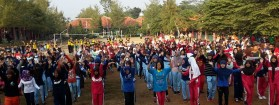 Senam Massal Peringatan Sewindu SMA N 1 Wonotunggal