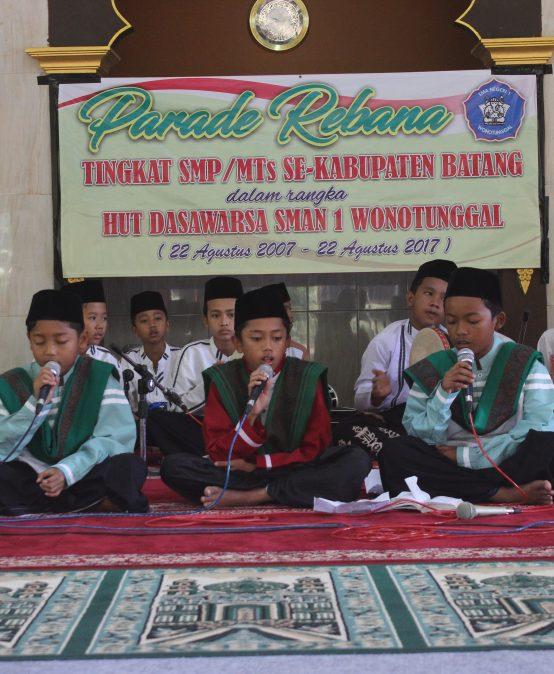 Parade Rebana HUT 1 Dasawarsa SMAN 1 Wonotunggal